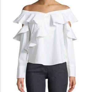Laundry SS White Off The Shoulder Blouse